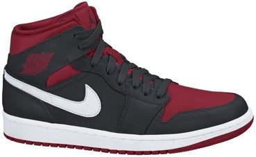 Buty Nike Air Jordan 1 MID Black/Gym Red 554724 020