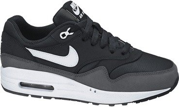 Buty Nike Air Max 1 (GS) Black/White-Dark Grey 555766 014