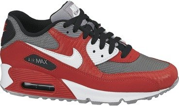 Buty Nike Air Max 90 (GS) University Red/Metalic Cool Grey 307793 602